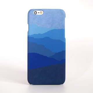 Blue Mountains Silhouette iPhone case