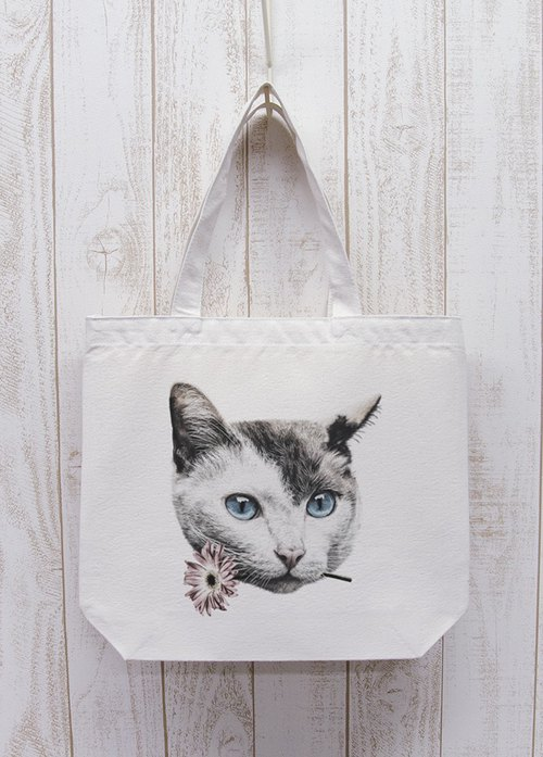 ronronCAT Here you go Odekake Tote (Natural) / RPB006