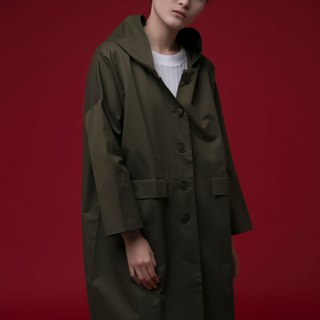 Big Pockets Trench Coat (navy/army green)