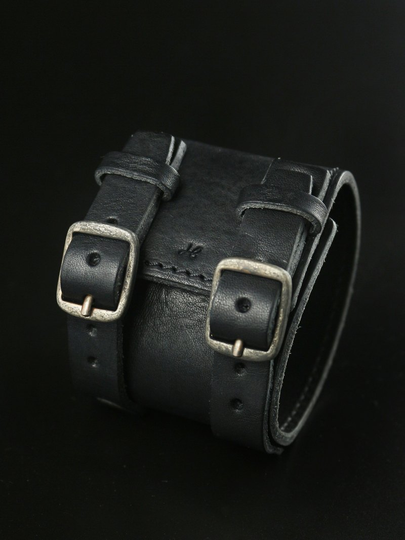 HEYOU Handmade - Leather Cuff 皮革手环 - 黑