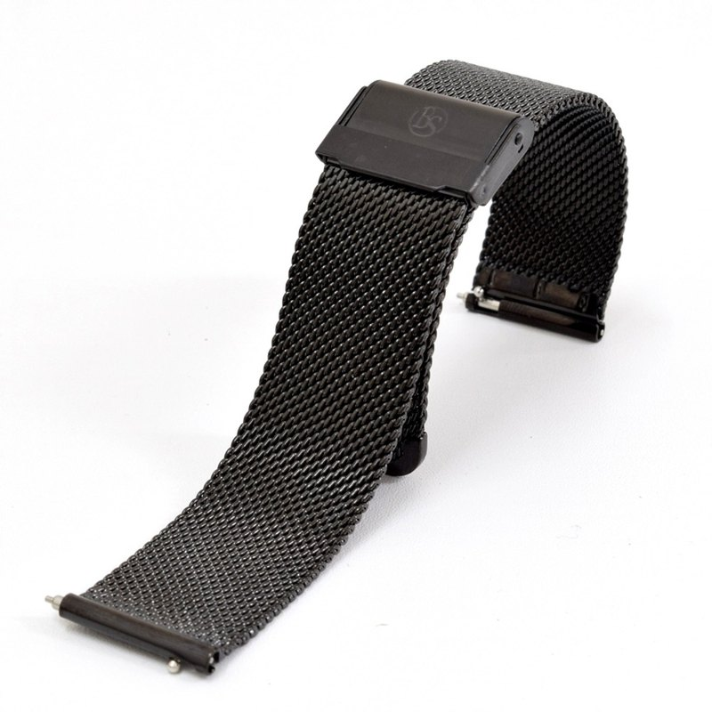 BOND STONE 20mm Stainless steel mesh belt Black
