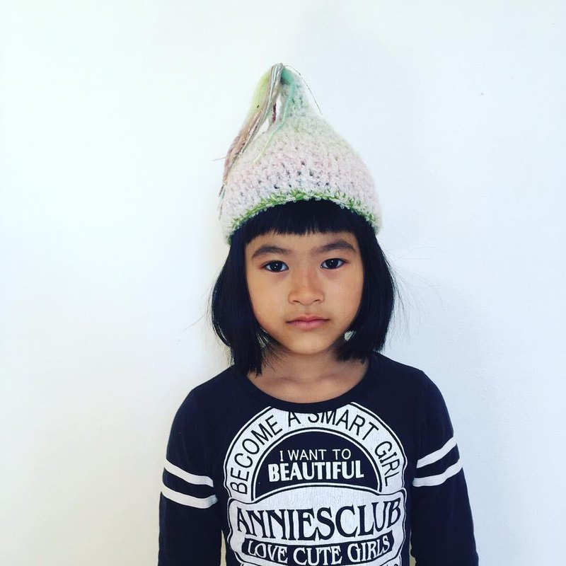 Baby ★ Unicorn Green Rainbow Shooting Star S Tongari Hat