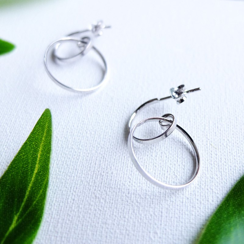EARRINGS hi-headman (925 silver+whitegold plated)