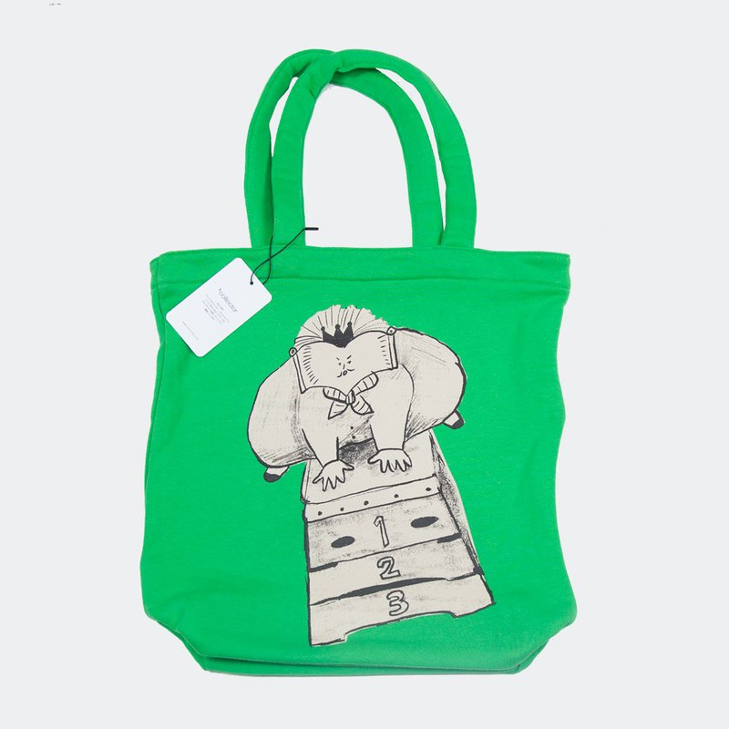 Book King's Jump Box Sweat Tote Bag Green Tcollector