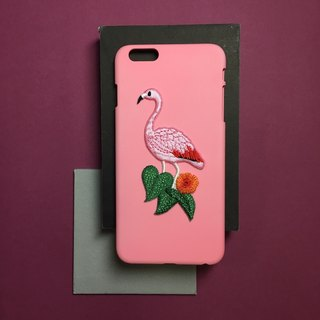 Case iPhone: flamingo
