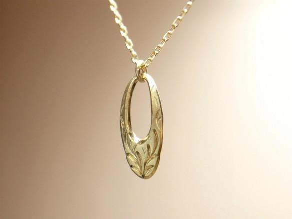 K18 gold gold handmade necklace oval for ladies