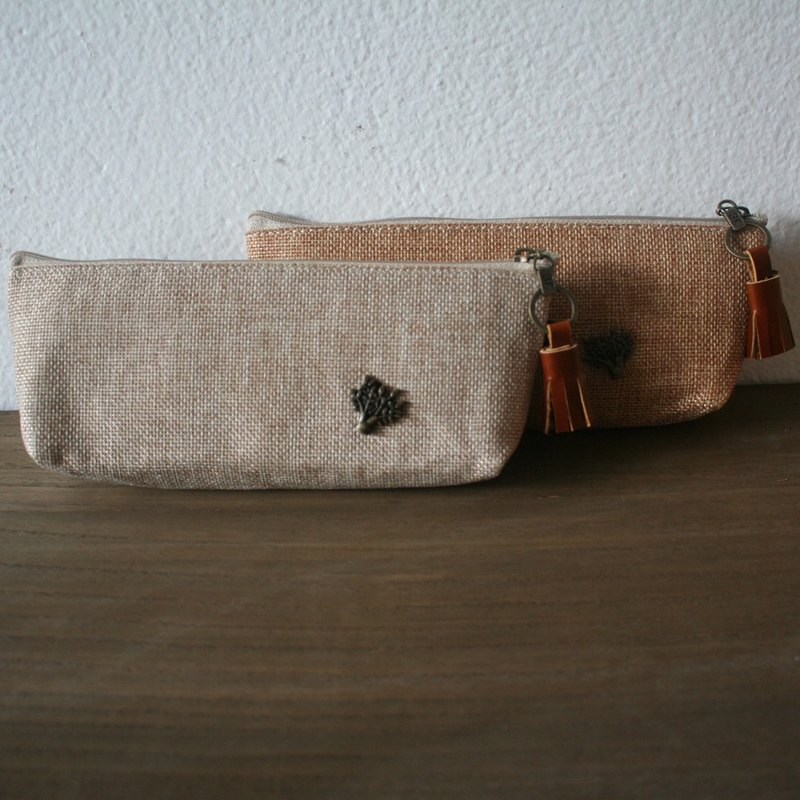 Linen Burlap Pencil Case I Jute Sack Pen Case.