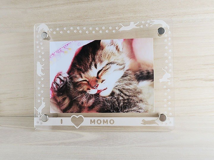 Selfish cat and paws and photo frame L size Gift wrapping Christmas Gift