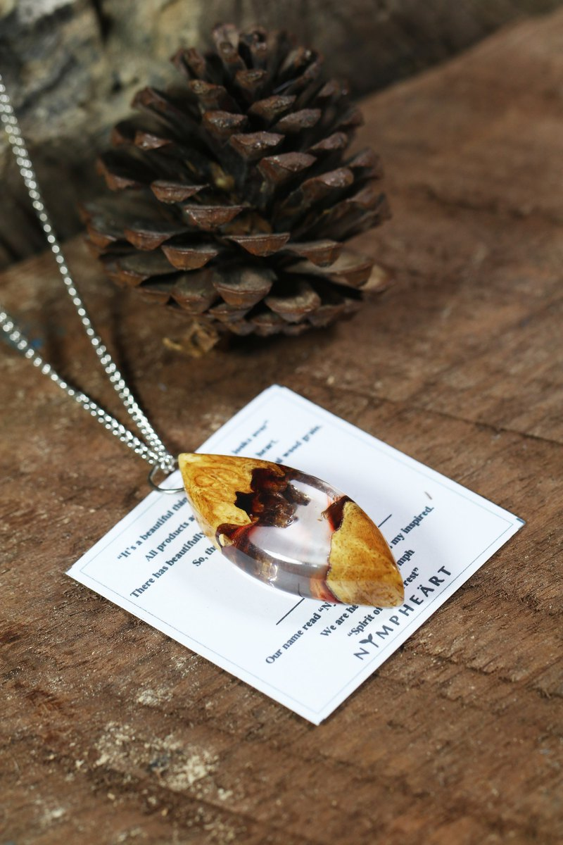 *IN STOCK* Wonder burl wood collection - TWILIGHT necklace