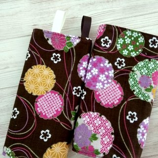 DROOL PADS, Ergo, Lillebaby, Beco, Tula, BabyBjorn, Japanese Flower Brown